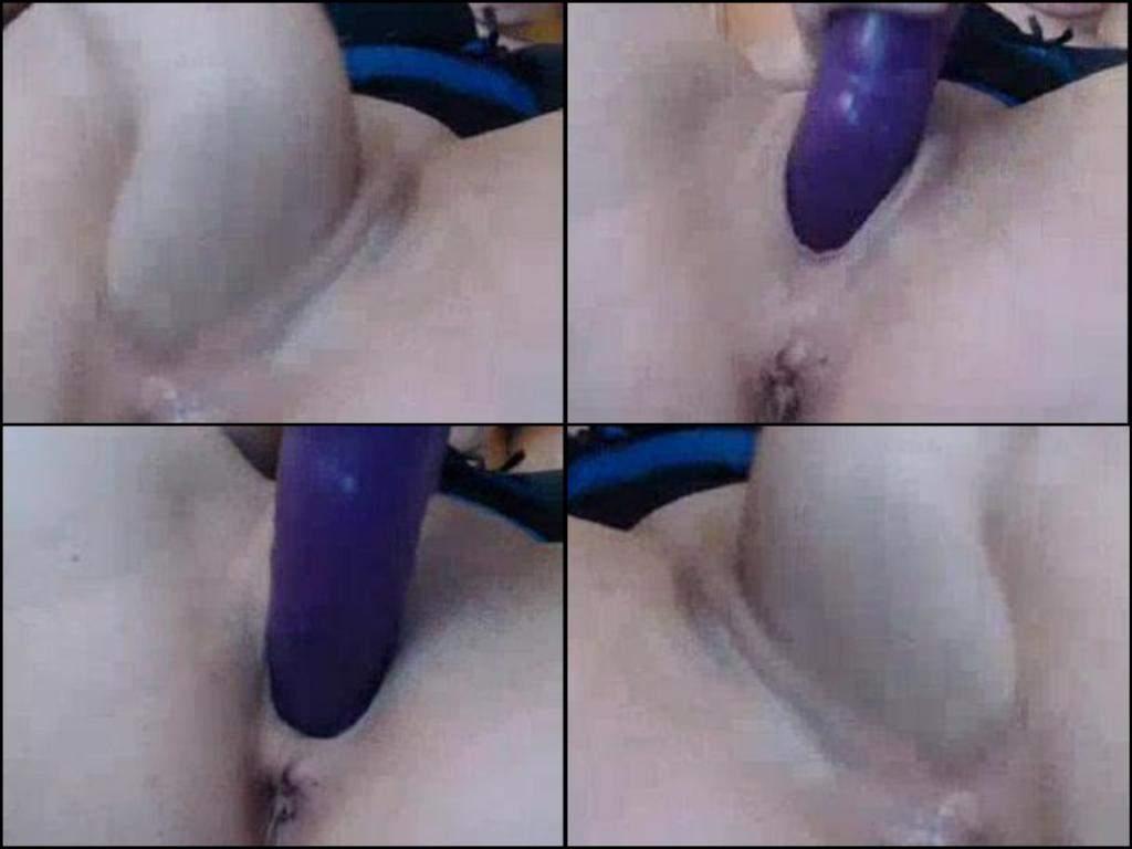 Dildo girl purple