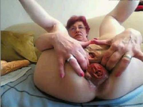 Horny granny needs two cocks to satisfy her 2