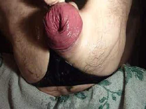 close up anal stretch tube