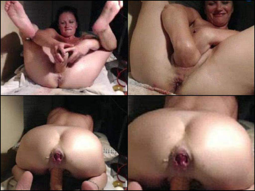 dildo stretch pussy and ass  brunette dildo penetration,double fisting pussy hot brunette wife,milf  double fisting pussy,