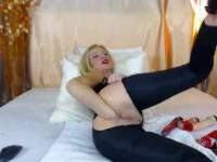 Unique webcam blonde fisting anal herself and big anus gaping