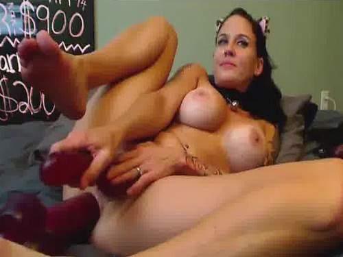 anal, anal insertion, close up, closeup, colossal dildo, dildo, dildo anal, double dildo, double penetration, fuckmachine, huge dildo, long dildo, pussy insertion, webcam,dildo anal penetration very deep