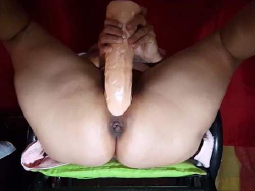 Question not Fuck wife with huge dildo shame!
