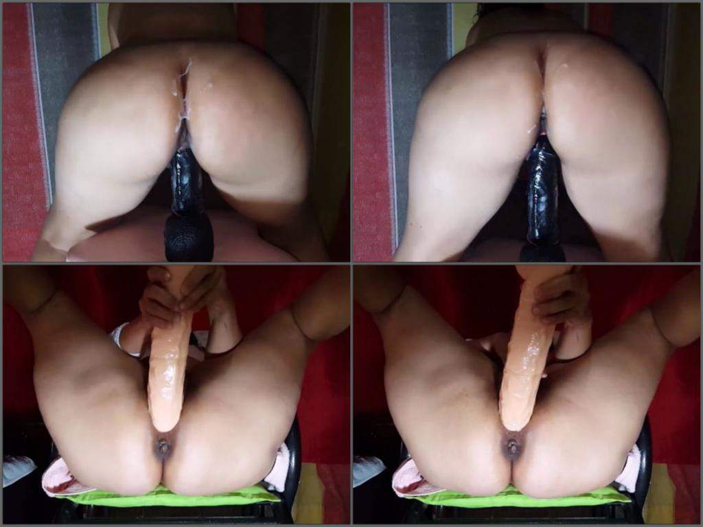 Big butt mature riding toy