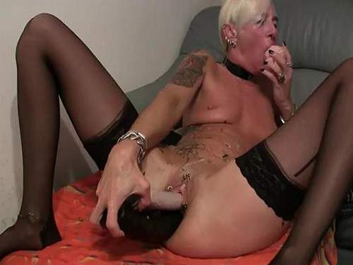 image Massive dildo playtime and squirting