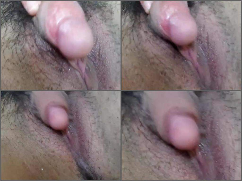 Huge clit close up