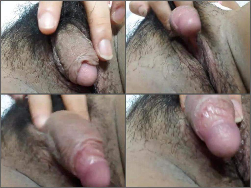 Huge Clitoris Show Hot Hairy Asian Teen  Rare Amateur -8274
