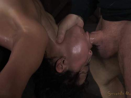 Amazing throat fuck