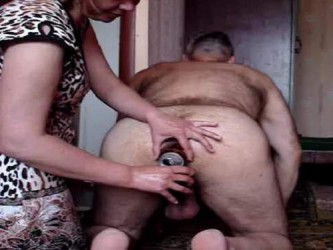 anal fisting,deep anal fisting,femdom fisting,extreme femdom fisting,perverted couple fisting,beer tin in husbands ass