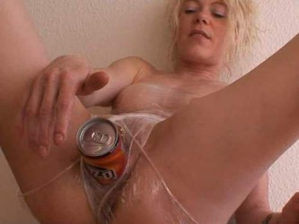 roll up in plastic wrap girl,sexy blonde with huge tits,big boobs,horny blonde with giant tits,sexy blonde insertion can in pussy,sexy blonde with big tits insertion can