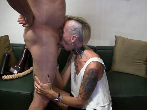 Horny mature blowjob