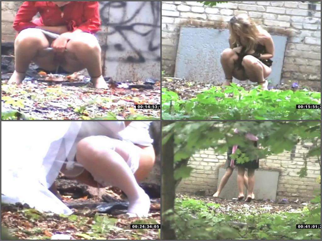 outdoor wedding pissing voyeur Preview: Girl in a wedding dress pissing outdoor spy video