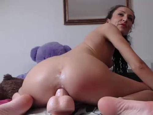 fantastical curly chick dildo anal,deep dildo anal fuck,deep toy fuck in ass,asshole gaping,anus gape closeup,curly girl webcam porn,huge toy fully fuck in anus