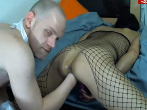 Stunning couple vaginal fisting games