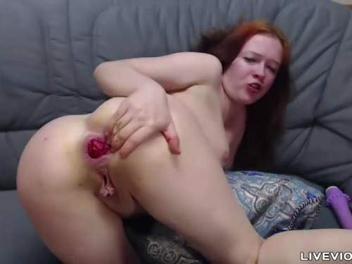 Anal rosebud ruined dirty redhead girl webcam