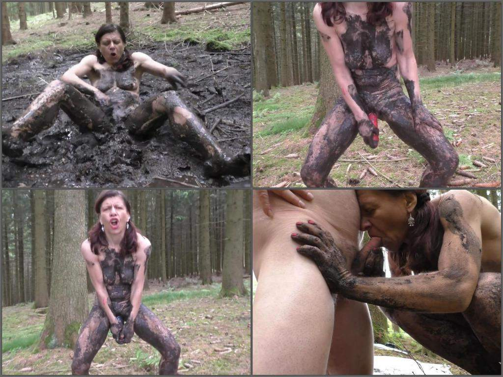 Mud blowjob