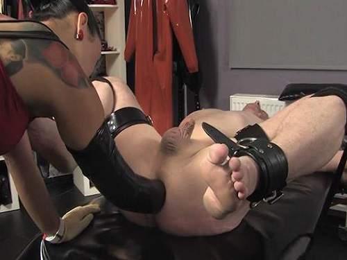 Femdom wife husband in bondage