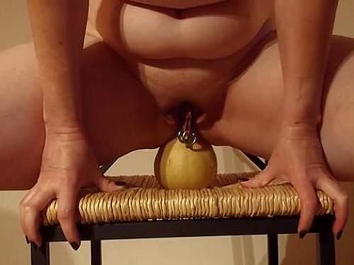 wife with piercing pussy riding on a little pumpkin rare