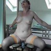 dildo riding,amateur granny,granny toy insertion,homemade porn with granny,fucking machine porn,fucking machine penetration