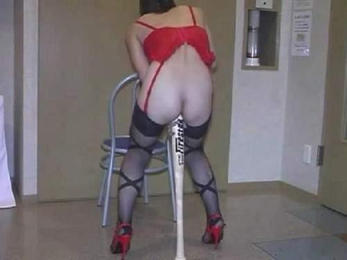 baseball bat riding,baseball bat penetration,asian masked wife,masked mature bat riding,couple porn homemade