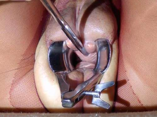 Close pussy speculum up