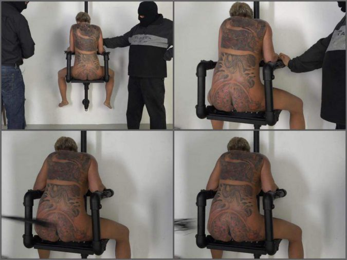 tattooed mature,sexy tattooed milf,mature sits on a spikes,mature sitting on the iron spikes,tattooed milf gets domination