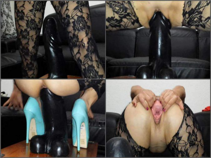 colossal dildo riding,colossal dildo penetration,giant toy fuck,huge dildo riding,epic dildo riding,toy fuck in cunt,booty milf