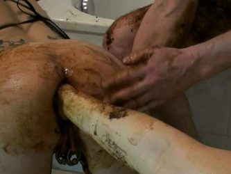 scat fisting,shitting anal,shit fisting,deep fisting,busty german milf,german wife gets fisted,german scat