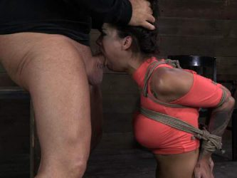 Bonnie Rotten deepthroat fuck,Bonnie Rotten throat gaggers,Bonnie Rotten bondage,bdsm with bondage girl,tattooed girl