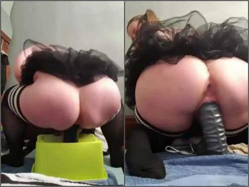 booty girl dildo fuck,bbw dildo riding,bbw dildo rides,huge dildo fuck,booty chick,big toy insertion,monster dildo