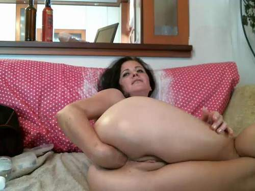 viviana76 dildo riding,viviana76 dildo anal,huge dildo anal,mature with saggy tits,fisting solo,KinkyVivian fisting porn,mature fisted her wet pussy