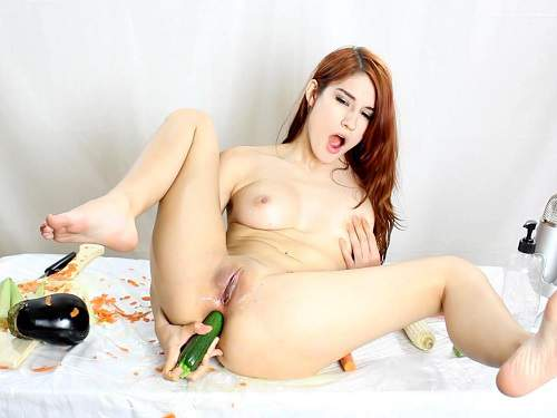 MiaRand dildo penetration,MiaRand vegetable porn,MiaRand vegetable insertion anal,carrots anal