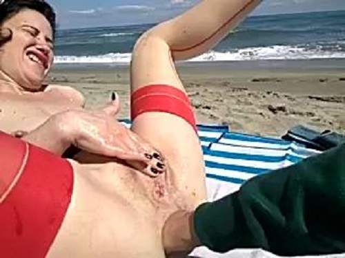 Perverted Mature Anal Fisting To Rosebutt On A Beach  Release June 28, 2017  Amateur Fetishist-6078