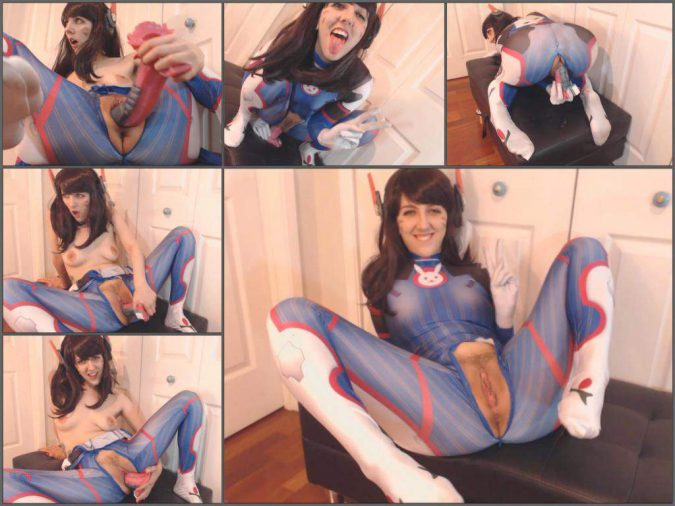 Princessberpl overwatch: D.va gets caught,Princessberpl dildo fuck,monster alien dildo in pussy,monster dildo penetration,naked teen cosplay,teen cosplay porn