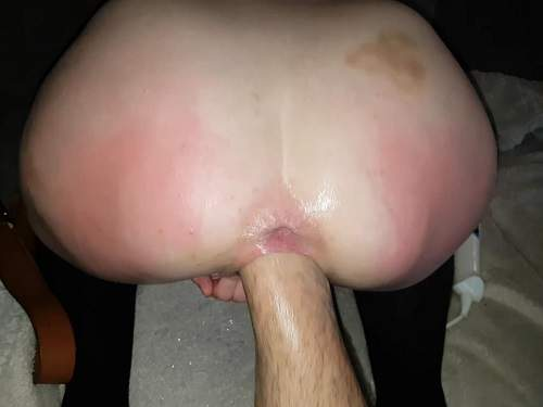 Homemade very deep vaginal fisting and beer bottle fully fuck