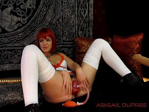 Abigail Dupree pussypump,Abigail Dupree piercing pussy,Abigail Dupree piercing pussy pumping,pussypump,solo pussypump
