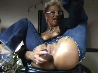 german granny anal,mature with torn jeaans,torn jeans porn,dildo anal,big dildo anal,piercing pussy closeup,granny anal gape
