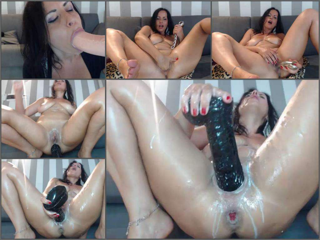 Hot Milf Milk Enema And Huge Dildo Porn Herself  Amateur -4826
