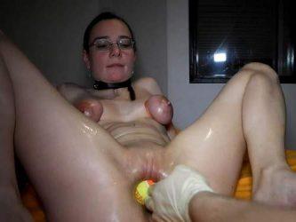 tennis balls in pussy,ping pong balls penetration,ball penetration,balls porn,bondage tits,maledom amateur