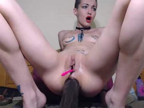 Large labia bald girl angelsdaniel rides on a BBC dildo – Release March 20, 2018