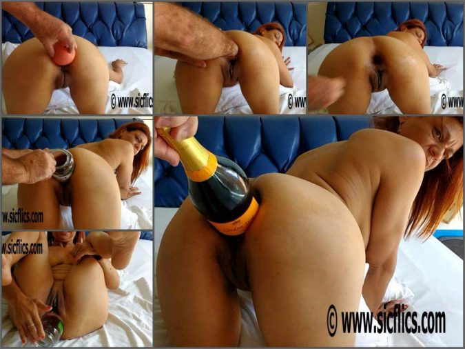 champagne bottle in ass,champagne bottle porn,fisting anal,deep anal fisting,fisting sex,hot fisting sex,fisting porn,balls in ass,jar penetration anal