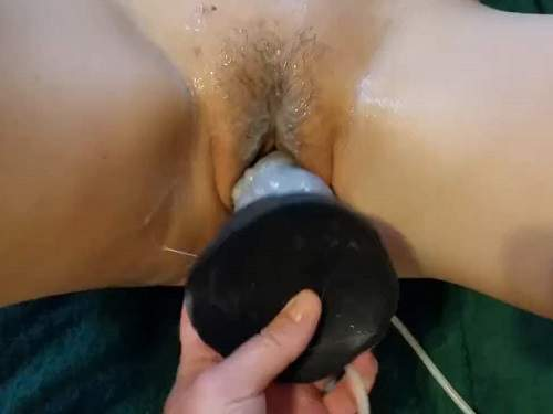 dragon dildo penetration,bad dragon dildo,dildo penetration in cunt,hairy pussy stretching