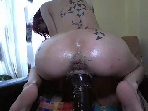 Abuse camgirl angelsdaniel monster BBC dildo vaginal ride