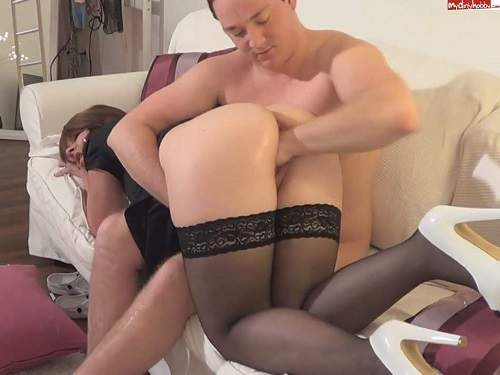 Sexy booty housewife gets fisted homemade from husband