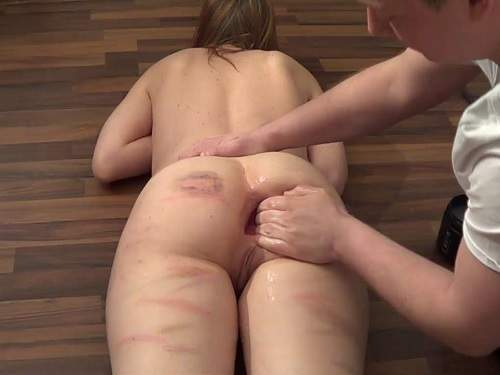 JungesfetischpaarNRW gets monster butplug and fisting sex homemade