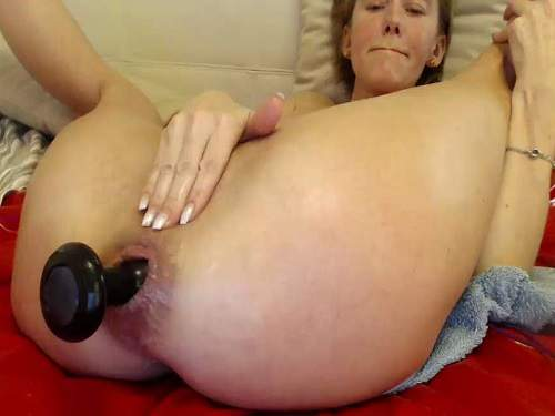 Bbmix996 solo penetration double dildo – one in pussy and other in anal gape