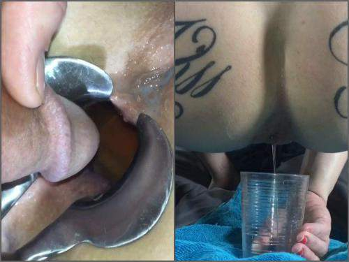 LilySkye speculum anal,LilySkye speculum examination,peeing in ass,peeing domination,maledom piss