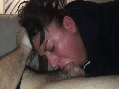 Wife rough throat fucking with big cock her husband