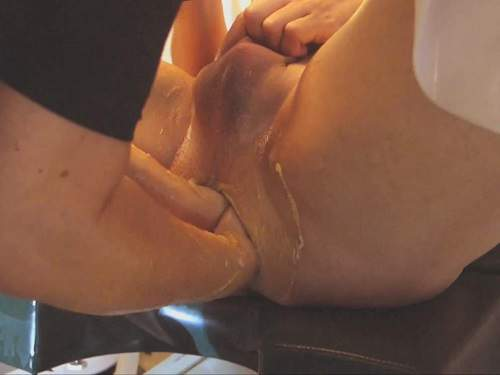 Double anal fisting sex femdom homemade and speculum examination
