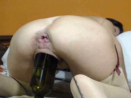 Booty milf kinkyvivian huge balls, bottle and dildos in rosebutt anus